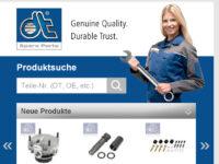 Mobile Suchmaschine für Nutzfahrzeug-Ersatzteile der Marke DT Spare Parts