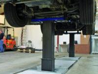 Mehrstempel-Hebeanlage von Maha für schwere Nutzfahrzeuge und Busse