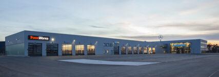 Neues Nutzfahrzeugzentrum von Mercedes-Benz in Mannheim eröffnet