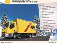 Tipps vom ADAC-Truck-Service für die kalte Jahreszeit