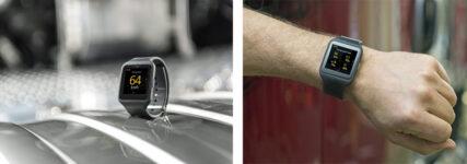 Smarte Armbanduhr von Scania kommuniziert mit dem Lkw
