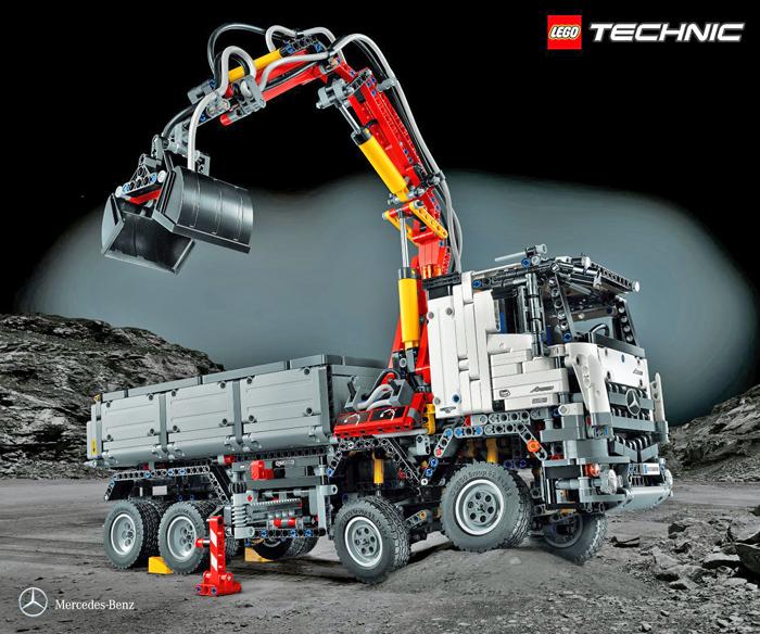 truck von mercedes benz als modell von lego erh ltlich. Black Bedroom Furniture Sets. Home Design Ideas