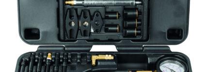 Universell einsetzbarer Kompressionsdruck-Prüfkoffer von KS Tools
