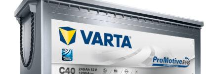 Bis zu 40 Prozent längere Lebensdauer mit der Batterie 'Varta Promotive EFB'