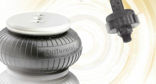 Integrierter Sensor: Contitech stattet Luftfeder mit Intelligenz aus