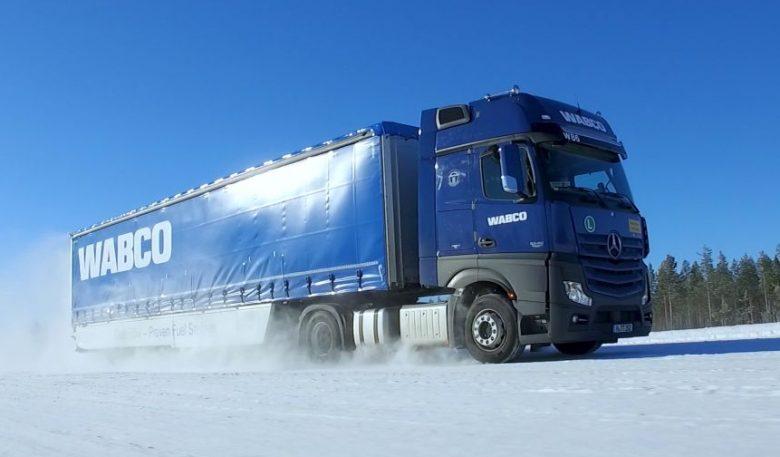 Wabco Fahrtest im finnischen Rovaniemi