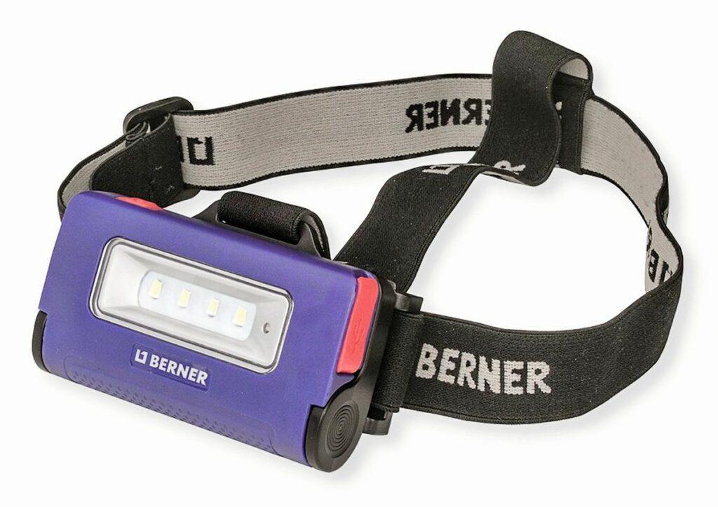 Berner praktische, klappbare 2-in1-LED-Stirnleuchte