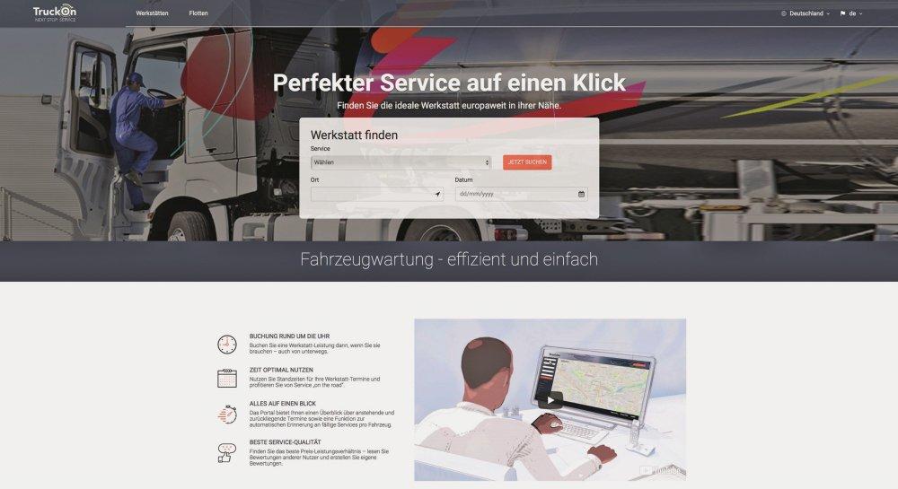 Buchungsplattform 'TruckOn' von Continental
