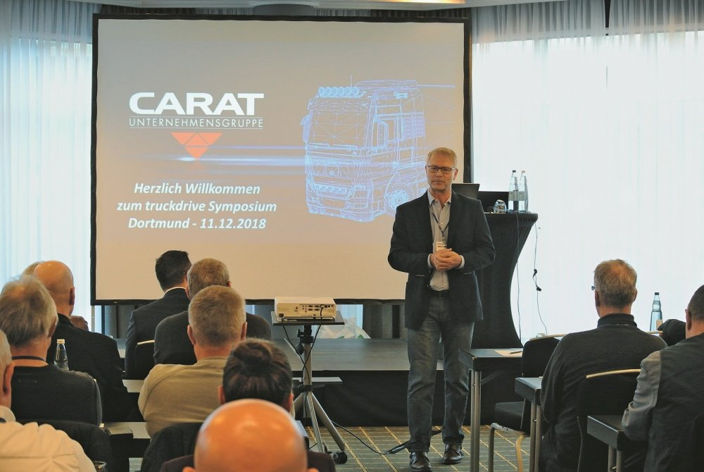 Thomas Vollmar beim Carat Truckdrive Symposium