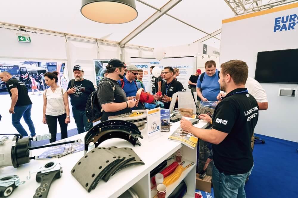 Europart Messezelt beim Truck-Grand-Prix am Nürburgring