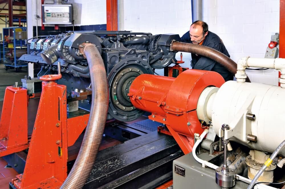 Motoren-Prüfstand von Motoren AG Feuer