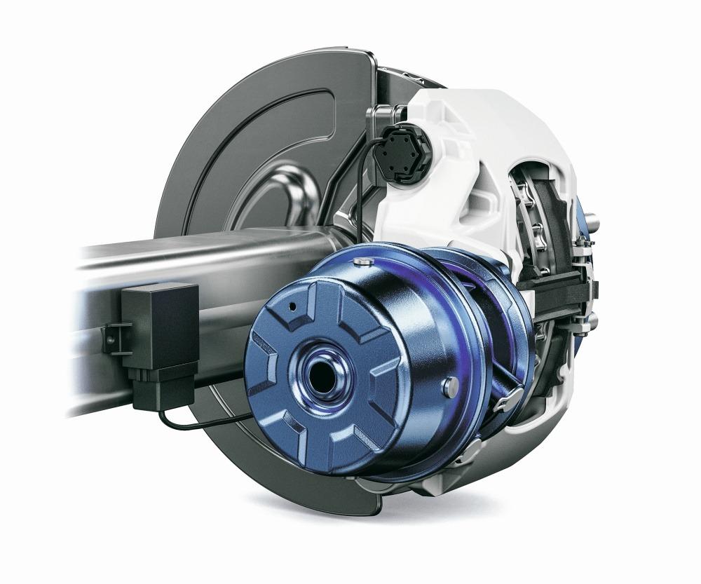 Bremsbelagverschleiß-Sensor an Bremssattel