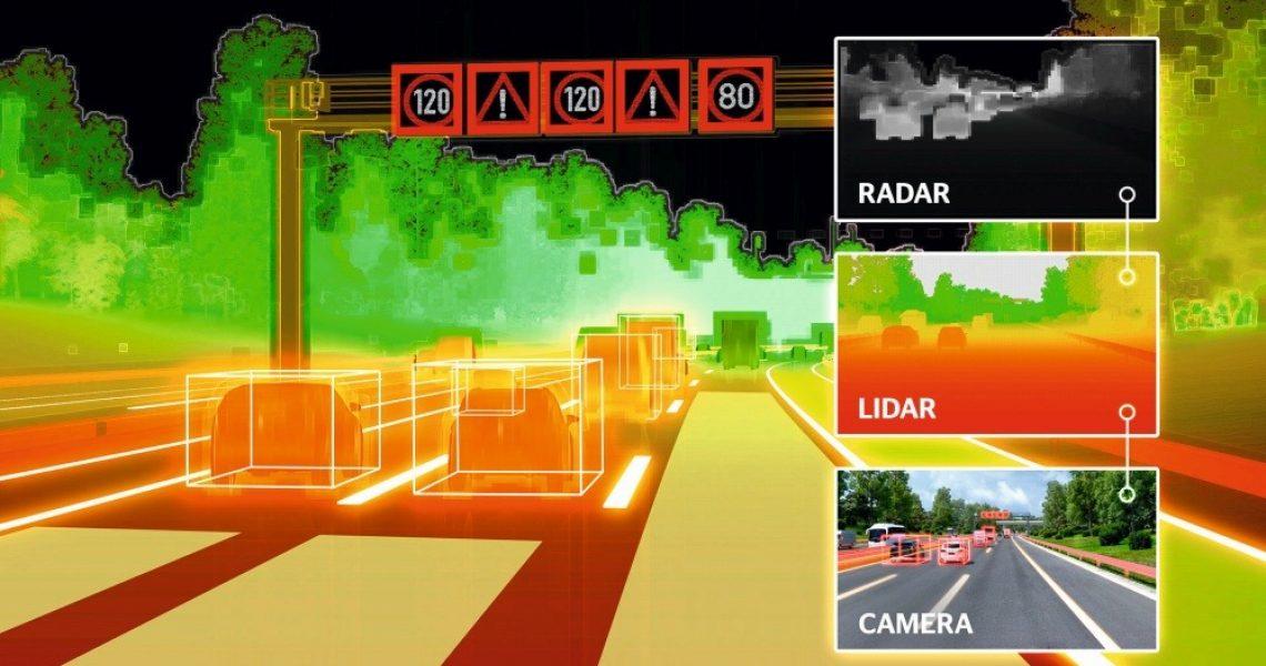Sichtweise von Umfeldsensoren von Fahrerassistenzsystemen