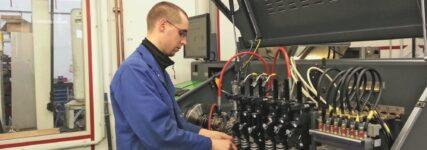 Reparatur eines Diesel-Hochdruck-Einspritzsystems