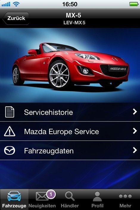 kfz service mazda app f r iphone und android handys. Black Bedroom Furniture Sets. Home Design Ideas