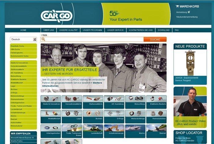 hc cargo mit neuem online shop und integriertem katalog krafthand. Black Bedroom Furniture Sets. Home Design Ideas