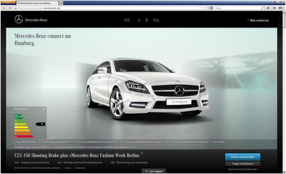 Vorkonfigurierte neufahrzeuge von mercedes benz im online for Mercedes benz store online