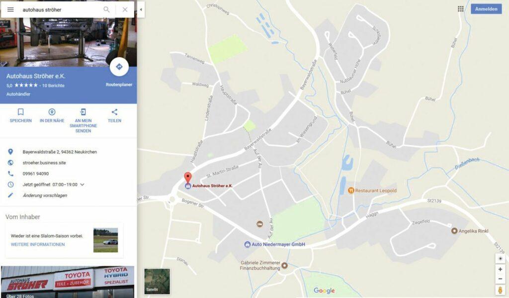 Google-Maps-Ausschnitt