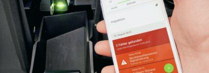 Abruf der Fehler mit Smartphone
