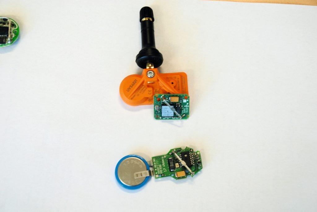 Innenleben, RDKS-Sensor, Batterie