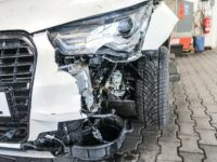 Unfallauto, Schaden vorne links